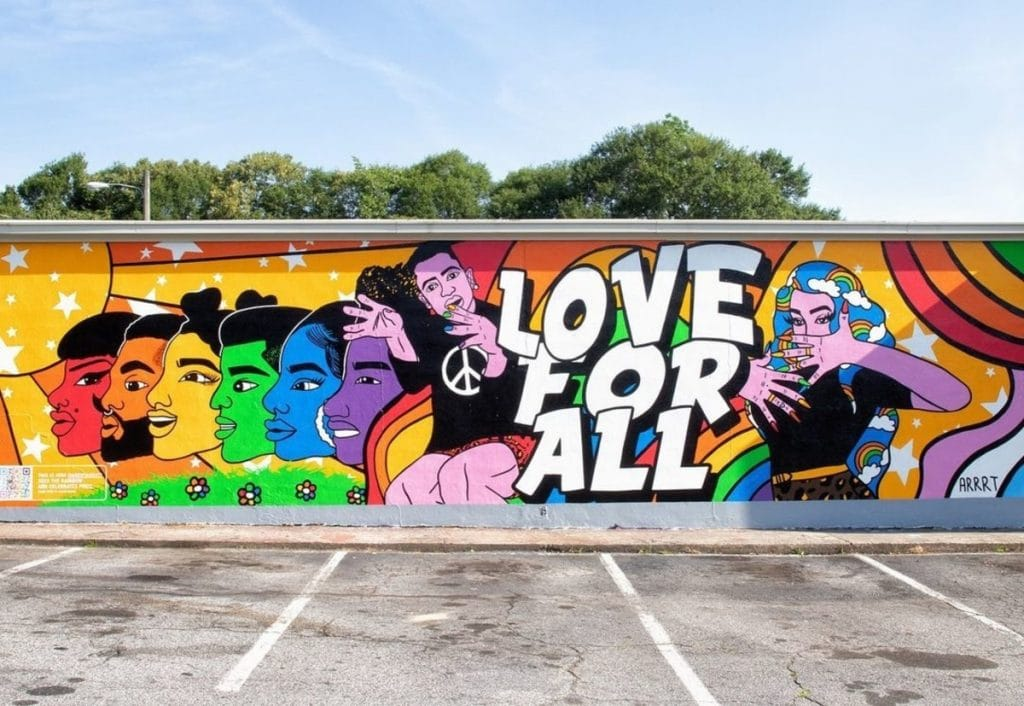 This Stunning Mural In Little Five Points Honors Pride Month And Inclusive Love!