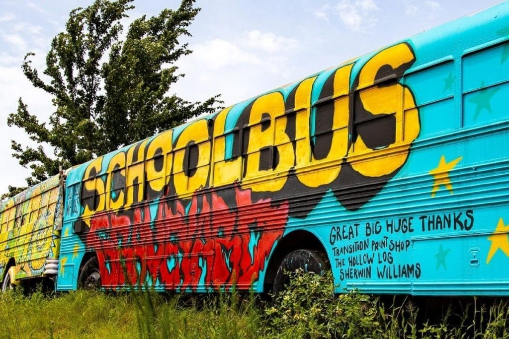 This School Bus Graveyard In Alto Is Now An Art Lover's Paradise