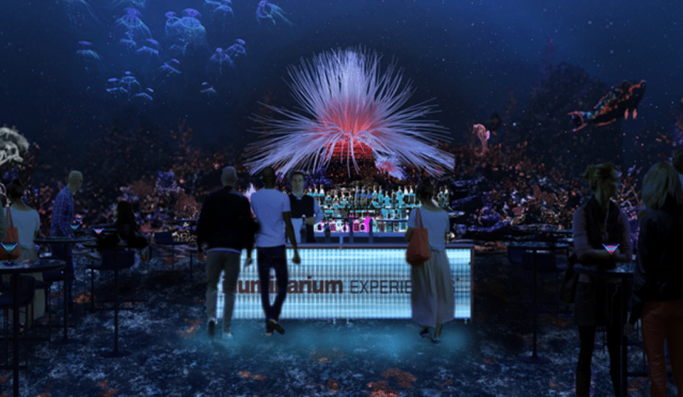 Enjoy A Cocktail And Travel The World At Illuminarium's Immersive Nightlife Experience