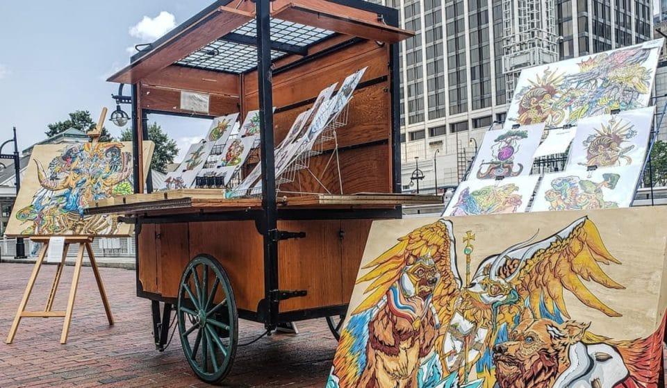 Unique Bi-Weekly Art Market Concept Vibrantly Transforms Underground Atlanta