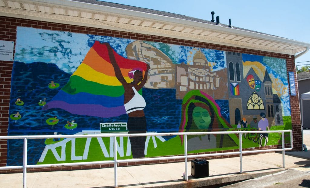 This Stunning New Mural Honors Atlanta Pride In Old Fourth Ward