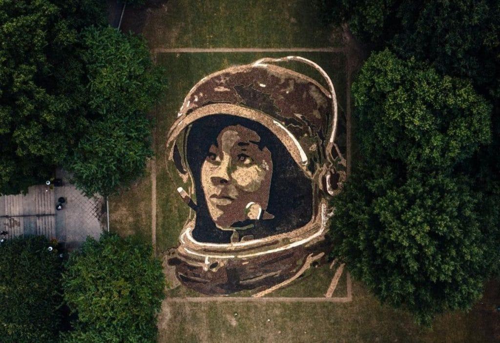 Spectacular Nature-Mural Honoring NASA Astronaut Is Unveiled In Atlanta